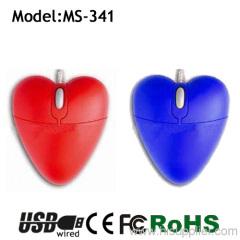 Lover people like the heart shape mouse