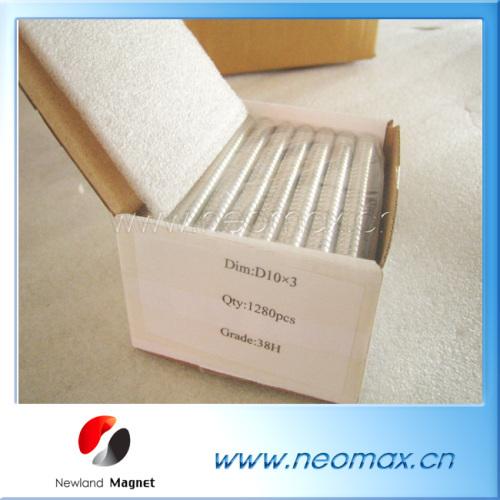 N38H Neodymium disc magnets