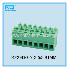 8A 28-16 AWG Plug-In Terminal Block Connector pitch 3.5/3.81mm