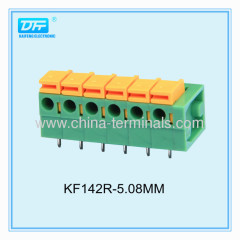 Gamma filo 5,08 millimetri 10A 22-16 AWG PCB Primavera morsettiera