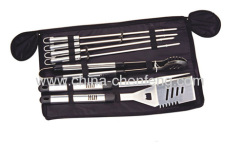 8pcs BBQ tools sets in zipped carrying bags