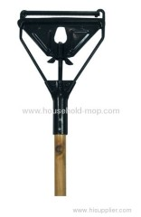 Metal Wet Mop Gripper With Wooden Handle
