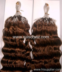 High quality Curly human hair extension