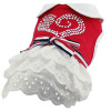 Rhinestone lacy dog dress pet clothing