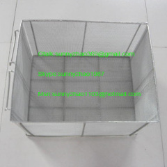 Frying wire mesh basket