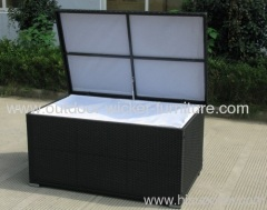 Patio wicker knockdown storage boxs