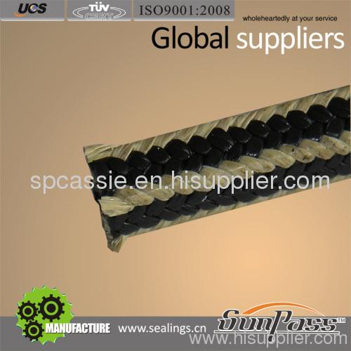 PTFE-Graphite With Kevlar Fiber Corner Braided Packing