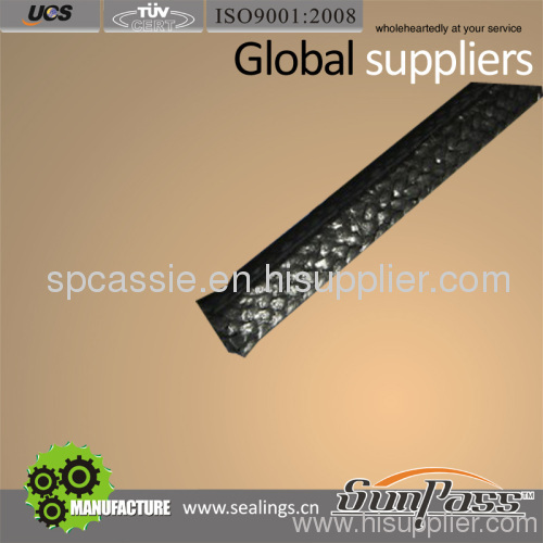Graphite Packing With Carbon Fiber Corner Packing