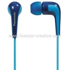 Panasonic RP-HJE140 L-Shaped Stereo Earbuds Headphones Blue