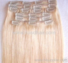 Brazilian hair extension with clips