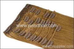 100% Brazilian remy hair extension with clips in