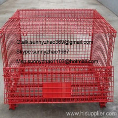 foldbale warehouse cage/storage container