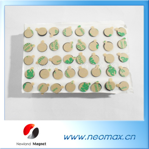 neodymium magnets with 3M adhesive for sale