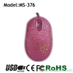 new stype best choice gift crystal pc mouse
