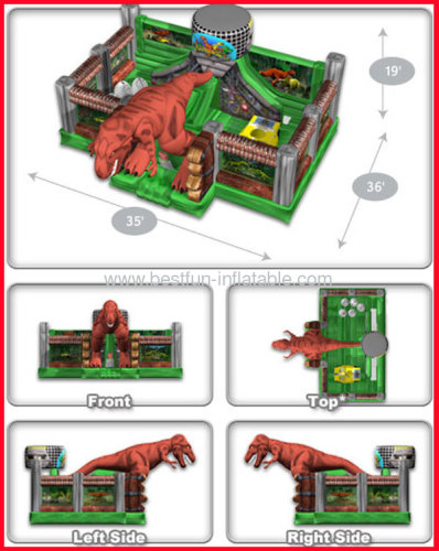 Giant Bouncer Inflatable Jurassic Zoo Playland