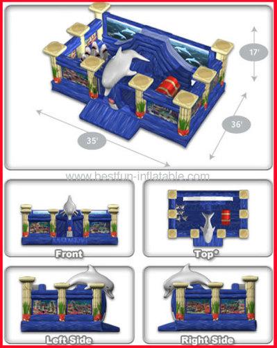 Giant Inflatable Bouncer Atlantis Playland