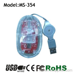 clear material mouse fashion mouse