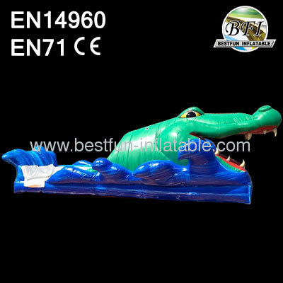 Inflatable Alligator Water Slide