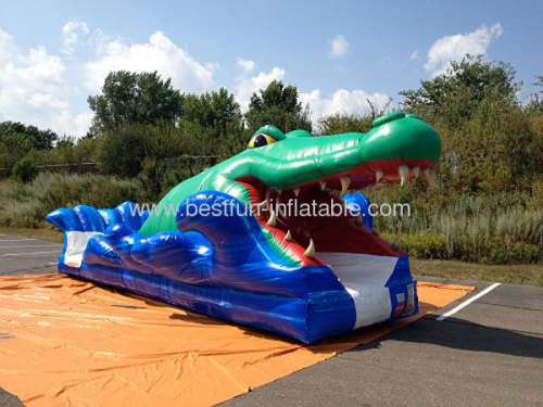 Inflatable Alligator Slip And Slide