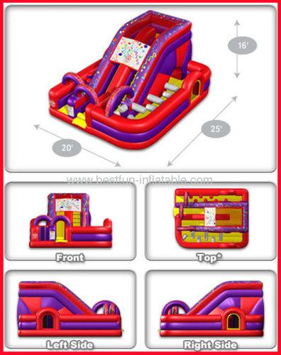 Wacky Millennium Inflatable Slide Bouncer Combo