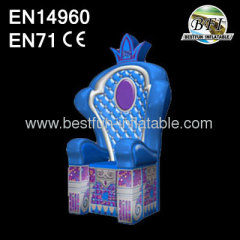 Sealed Inflatable Prince Throne