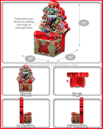 PVC Inflatable Clown Throne