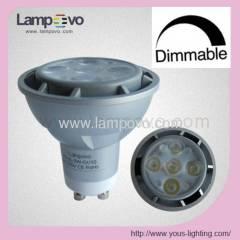 Dimmable Dim light 230V GU10 5W 400LM Aluminum LED SPOTLIGHT