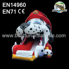 Inflatable Fire Dog Slide