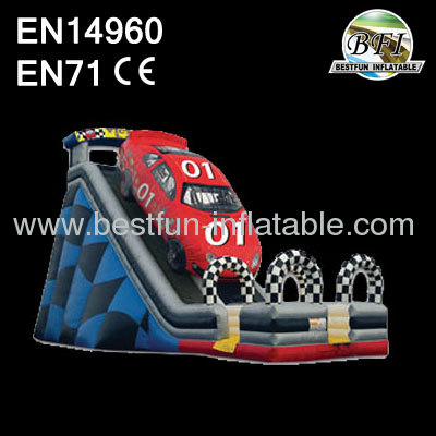 Giant Inflatable Race Car Slide