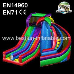 Wacky Dual Inflatable Slide