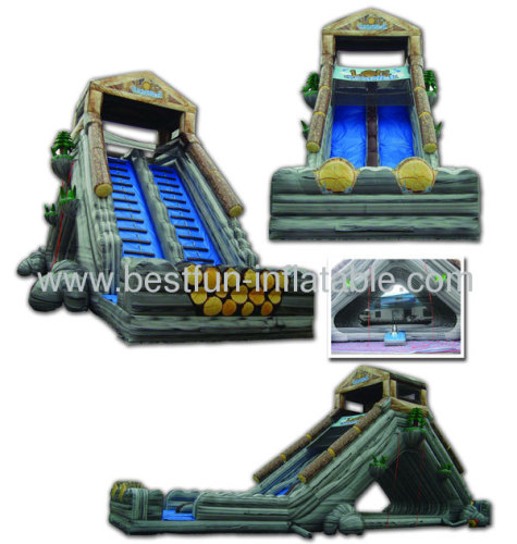 Giant Inflatable Log Jammer Slide