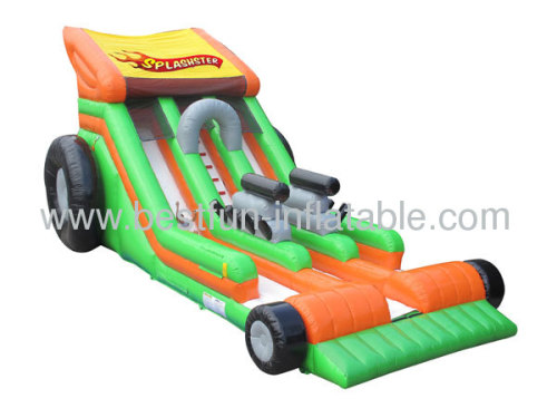 Kids Commercial Inflatable Splashster Car Slide