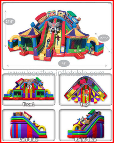 Giant Inflatable Circus City With / Without Bounce Slide