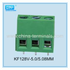 300V 10A UL brass screw pcb terminal blocks