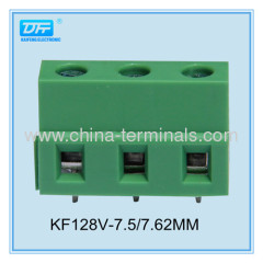 24-12AWG electronic euro screw terminal block KF128V china