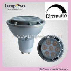 GU10 MR16 120V 480LM 500LM DIMMABLE 7*1W 7W LED SPOTLIGHT