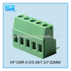 China PCB Screw Terminal Block pitch 5.0/5.08m 24-12 AWG 20A