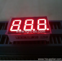 "0.36"" 3-Digit 7-Segment LED Display for instrument panel, common cathode super bright red"