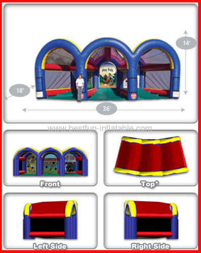 Inflatable Triple Sports Cage