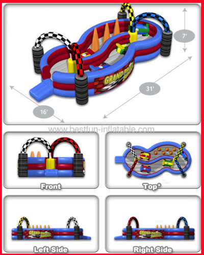 School Inflatable Grand Prix Track