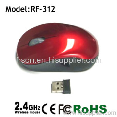 slim computer optical 2.4g wireless mouse