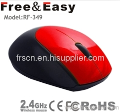 Small size red color computer wireless mouse