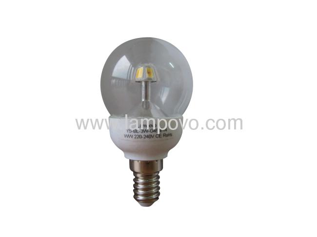 E14 G45 3W 6Pcs SMD5630 250LM LED BULB