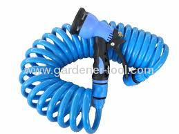15M Garden Water Hose With Advanced Plastic 8 Pattern Trigger Nozzle