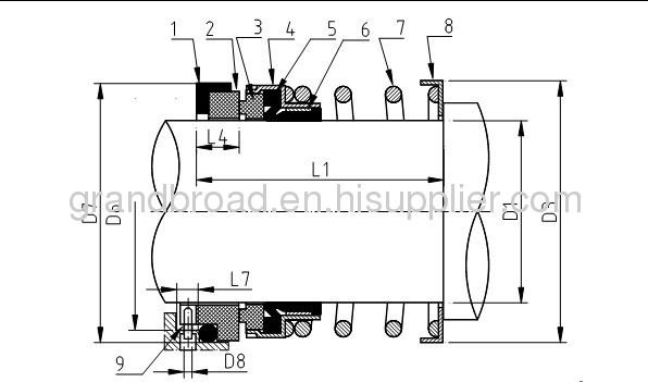 John Crane Type 21 51 521 Sealol Type 43 Single Parellel Spring Seals