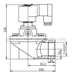 3/4Right angle Pulse valve