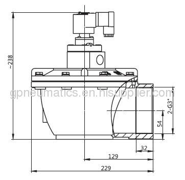3Right angle Pulse jet valve