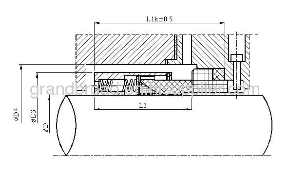 Equivalent to John Crane Type T9 9 59 109 PTFE Wedge Mechanical Seals