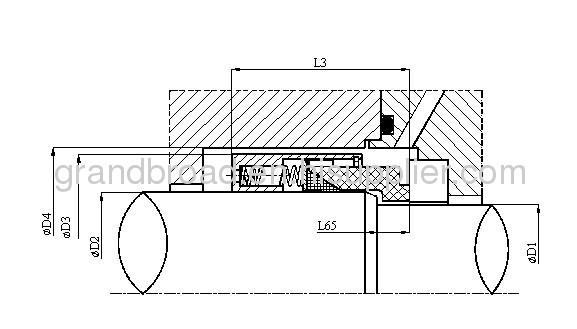 Equivalent to John Crane Type T9B 9B 59B 109B PTFE Wedge Mechanical Seals