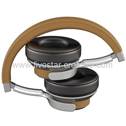 Ferrari by Logic 3 Cavallino T250 Tan Classic Style Headphones with Universal Remote and Microphone